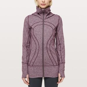 lululemon stride jacket ii black cherry size 12